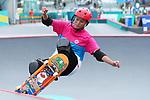 Sakura Yosozumi (JPN), <br /> AUGUST 29, 2018 - Skateboarding : <br /> Women's Park  Final<br /> at Jakabaring Sport Center Skatepark <br /> during the 2018 Jakarta Palembang Asian Games <br /> in Palembang, Indonesia. <br /> (Photo by Yohei Osada/AFLO SPORT)