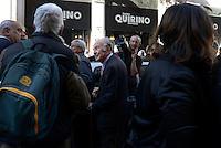 Roma, 7 Novembre 2015.<br /> Valentino Parlato<br /> Al Teatro Quirino nasce il nuovo gruppo parlamentare Sinistra italiana, con Sel e i fuoriusciti dal Partito Democratico