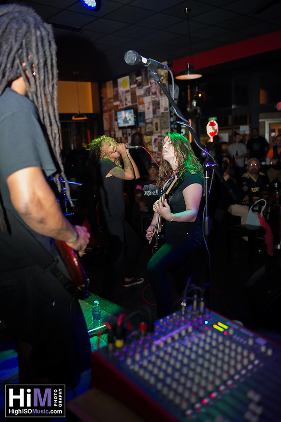 Straight Line Stitch performs at Zeppelin's in Biloxi, MS on October 2, 2013.