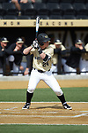 Chris Lanzilli (24) of the Wake Forest Demon Deacons at bat against the Louisville Cardinals at David F. Couch Ballpark on March 18, 2018 in  Winston-Salem, North Carolina.  The Demon Deacons defeated the Cardinals 6-3.  (Brian Westerholt/Sports On Film)