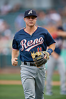 Andy Young (11) of the Reno Aces during the game against the Salt Lake Bees at Smith's Ballpark on June 27, 2019 in Salt Lake City, Utah. The Aces defeated the Bees 10-6. (Stephen Smith/Four Seam Images)