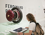 An early Ferdinand Porsche design -- an electric motor built into the wheel.