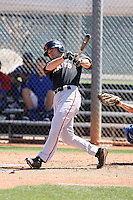 Nick Liles #10 of the San Francisco Giants plays in a minor league spring training game against the Chicago Cubs at the Cubs minor league complex on March 29, 2011  in Mesa, Arizona. .Photo by:  Bill Mitchell/Four Seam Images.