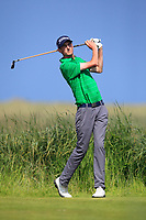 Tiernan McLarnon (Masereene) on the 10th tee during Round 4 of the East of Ireland Amateur Open Championship 2018 at Co. Louth Golf Club, Baltray, Co. Louth on Monday 4th June 2018.<br /> Picture:  Thos Caffrey / Golffile<br /> <br /> All photo usage must carry mandatory copyright credit (&copy; Golffile | Thos Caffrey)