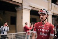 Toms Skujins (LAT/Trek Segafredo): race winner the day before at Tre Valli Varesine <br /> <br /> 99th Milano - Torino 2018 (ITA)<br /> from Magenta to Superga: 200km