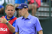 Matt Fitzpatrick (ENG) on the 1st tee to start his match during Saturday's Round 3 of the 117th U.S. Open Championship 2017 held at Erin Hills, Erin, Wisconsin, USA. 17th June 2017.<br /> Picture: Eoin Clarke | Golffile<br /> <br /> <br /> All photos usage must carry mandatory copyright credit (&copy; Golffile | Eoin Clarke)