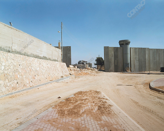 Wall sections, Bethlehem, West Bank, Israel, July 2004