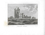 Engravings of Scottish landscapes and buildings from late eighteenth century,   Lincluden College, Scotland, UK 1791