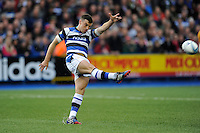 George Ford of Bath Rugby clears his line during the Amlin Challenge Cup Final match between Bath Rugby and Northampton Saints at Cardiff Arms Park on Friday 23rd May 2014 (Photo by Rob Munro)