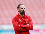 Ricky Holmes of Sheffield Utd wears a Weston park Charity t-shirt during the championship match at the Bramall Lane Stadium, Sheffield. Picture date 14th April 2018. Picture credit should read: Simon Bellis/Sportimage