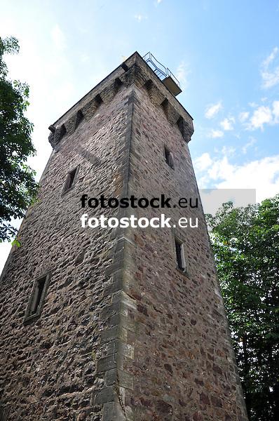Kaiser-Friedrich-Turm (1887) auf dem Scharlachberg in Bingen am Rhein