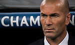Coach Zinedine Zidane of Real Madrid looks on prior to the 2016-17 UEFA Champions League match between Real Madrid and Legia Warszawa at the Santiago Bernabeu Stadium on 18 October 2016 in Madrid, Spain. Photo by Diego Gonzalez Souto / Power Sport Images