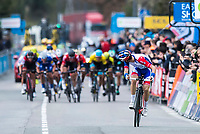 Picture by Alex Broadway/SWpix.com - 09/03/2018 - Cycling - 2018 Paris Nice - Stage Six - Sisteron to Vence - <br /> Rudy Mollard of Groupama FDJ glances over his shoulder as he wins the stage.<br /> <br /> NOTE : FOR EDITORIAL USE ONLY. THIS IS A COPYRIGHT PICTURE OF ASO. A MANDATORY CREDIT IS REQUIRED WHEN USED WITH NO EXCEPTIONS to ASO/Alex Broadway MANDATORY CREDIT/BYLINE : ALEX BROADWAY/ASO