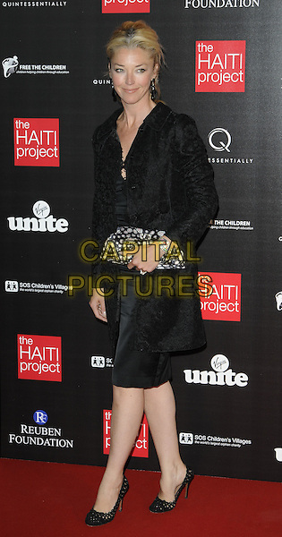 TAMARA BECKWITH.At The Reuben Foundation Haiti Fundraiser, Attitude 360, Millbank Tower, London, England, UK, .May 26th 2010..full length black dress coat shoes clutch bag .CAP/CAN.©Can Nguyen/Capital Pictures.