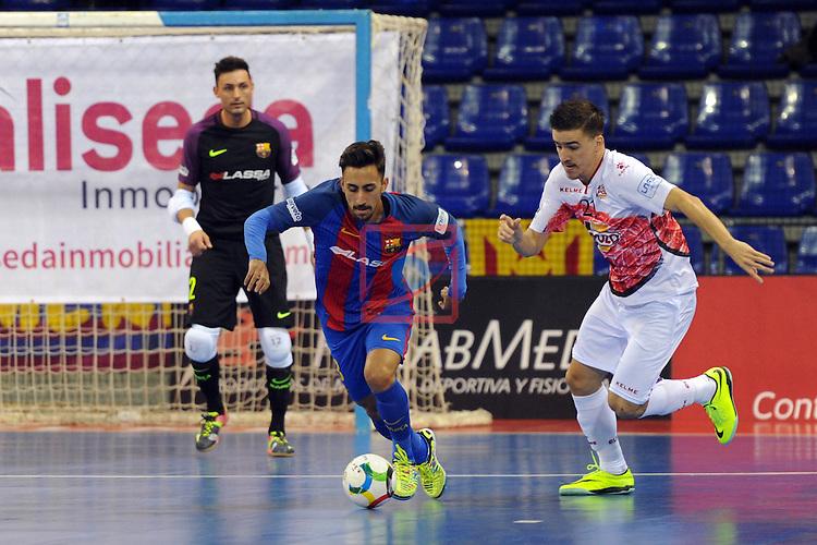 League LNFS 2016/2017 - Game 8.<br /> FC Barcelona Lassa vs ElPozo Murcia: 2-3.<br /> Joselito vs Dario Marinovic.