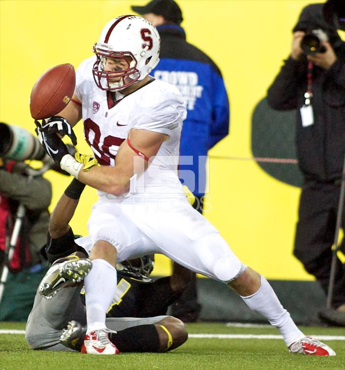 EUGENE, OR - November 16, 2012: Stanford Cardinal football vs the Oregon Ducks at Autzen Stadium in Eugene, OR.