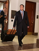 Michael Cohen, former attorney to United States President Donald J. Trump, departs after giving testimony in a closed hearing before the before the US House Permanent Select Committee on Intelligence on Capitol Hill in Washington, DC on Wednesday, March 6, 2019. Photo Credit: Ron Sachs/CNP/AdMedia