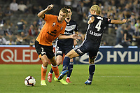 Melbourne, February 23, 2019 - Former Japanese International player Keisuke Honda (4) of Melbourne Victory in action in the round 22 match of the A-League between Melbourne Victory and Melbourne City at Marvel Stadium, Melbourne, Australia.