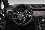Car pictures of steering wheel view of a 2019 Porsche Macan Base 5 Door SUV