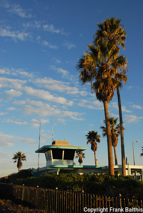 Lifeguard tower at South Carlsbad State Beach