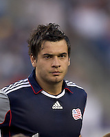 New England Revolution forward Milton Caraglio (9). In a Major League Soccer (MLS) match, Chivas USA defeated the New England Revolution, 3-2, at Gillette Stadium on August 6, 2011.