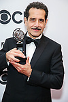 NEW YORK, NY - JUNE 10:  Tony Shalhoub, winner of the award for Best Performance by an Actor in a Leading Role in a Musical for 'The Band's Visit,' poses in the 72nd Annual Tony Awards Press Room at 3 West Club on June 10, 2018 in New York City.  (Photo by Walter McBride/WireImage)