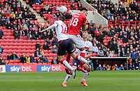 André Green of Charlton Athletic header goes wide during Charlton Athletic vs Middlesbrough, Sky Bet EFL Championship Football at The Valley on 7th March 2020