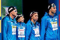 Team Italy ITA<br /> DI PIETRO Silvia, CASTIGLIONI Arianna, SABBIONI Simone, CODIA Piero<br /> Mixed 4X100 Medley Relay Final<br /> Swimming - Kazan Arena<br /> Day13 05/08/2015<br /> XVI FINA World Championships Aquatics Swimming<br /> Kazan Tatarstan RUS July 24 - Aug. 9 2015 <br /> Photo A.Masini/Deepbluemedia/Insidefoto
