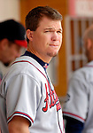 17 May 2007: Atlanta Braves third baseman Chipper Jones looks out from the dugout during a game against the Washington Nationals at RFK Stadium in Washington, DC. The Nationals defeated the Braves 4-3 to take the four-game series three games to one...Mandatory Photo Credit: Ed Wolfstein Photo