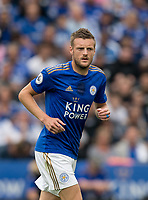 Jamie Vardy of Leicester City during the Premier League match between Leicester City and Wolverhampton Wanderers at the King Power Stadium, Leicester, England on 10 August 2019. Photo by Andy Rowland.