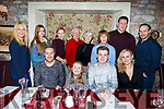 Nathan Comerford from Tralee, seated 3rd from the left, enjoying his 16th Birthday in Cassidys with his family.<br /> Seated l-r, Mark and Emma Greensmith, Nathan Comerford and Lorna Galvin.<br /> Standing l-r, Tanya O&rsquo;Regan, Aisling Nolan, Tara Griffin, Tommy Comerford, Ina Comerford, Helen Greensmith, Francis Galvin and Kieran Greensmyth.