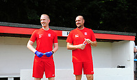 Lincoln United's physio Luke Treadwell, left, and Lincoln United manager Sam Wilkinson<br /> <br /> Photographer Chris Vaughan/CameraSport<br /> <br /> Football - Pre-Season Friendly - Lincoln United v Lincoln City - Saturday 8th July 2017 - Sun Hat Villas Stadium - Lincoln<br /> <br /> World Copyright &copy; 2017 CameraSport. All rights reserved. 43 Linden Ave. Countesthorpe. Leicester. England. LE8 5PG - Tel: +44 (0) 116 277 4147 - admin@camerasport.com - www.camerasport.com