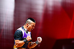 Enkhjargal Munkhdul (MGL), <br /> AUGUST 21, 2018 - Weightlifting : <br /> Men's 62kg <br /> at JIExpo Kemayoran Hall A <br /> during the 2018 Jakarta Palembang Asian Games <br /> in Jakarta, Indonesia. <br /> (Photo by Naoki Nishimura/AFLO SPORT)