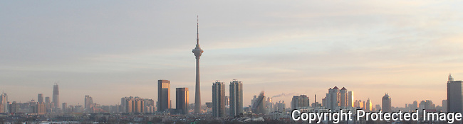 Tianjin TV tower city skyline sunrise NAEbden photo