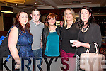 Pictured at the recent performance by comedian Tommy Tiernan at the Devon Inn Hotel, Templeglantine on Saturday were L-R Marion O'Sullivan, Ardagh, Padraig Kennelly, Shanagolden, Fiona Prendeville, Ballyhahill, Liz Crowley, Ardagh and Margaret Collins, Shanagolden.