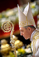Pope Benedict XVI New elevated bishops's,during Epiphany mass in St. Peter's Basilica.January 6,2013