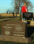 EUREKA, SD - OCTOBER 10, 2007: Al Neuharth, founder of USA Today and the Freedom Forum, poses for a photo at the cemetery in Eureka, SD. (Photo by Dave Eggen/Inertia/Freedom Forum)