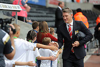Pictured: Bastian Schweinsteiger of Manchester United arrives Sunday 30 August 2015<br /> Re: Premier League, Swansea v Manchester United at the Liberty Stadium, Swansea, UK