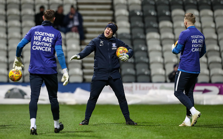Preston North End's goalkeeper coach Jack Cudworth  <br /> <br /> Photographer Andrew Kearns/CameraSport<br /> <br /> The EFL Sky Bet Championship - Preston North End v Derby County - Friday 1st February 2019 - Deepdale Stadium - Preston<br /> <br /> World Copyright © 2019 CameraSport. All rights reserved. 43 Linden Ave. Countesthorpe. Leicester. England. LE8 5PG - Tel: +44 (0) 116 277 4147 - admin@camerasport.com - www.camerasport.com