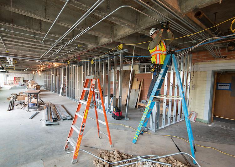 Construction at Waltrip High School, October 20, 2015.