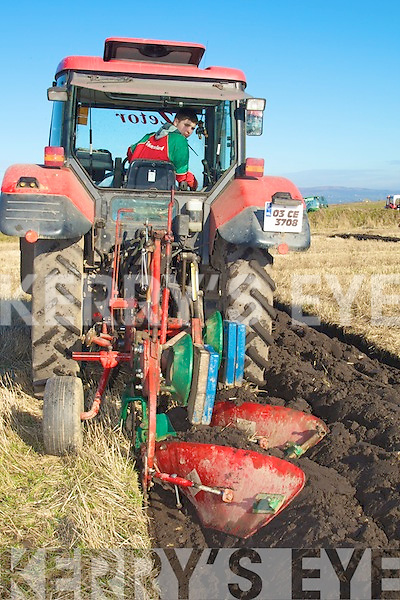 Christopher Barrett Causeway who plough away in the Causeway Ploughiong Championships on Sunday in Causeway.................................. ....