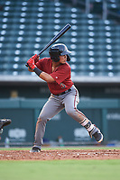 AZL D-backs Jose Curpa (3) at bat during an Arizona League game against the AZL Cubs 1 on July 25, 2019 at Sloan Park in Mesa, Arizona. The AZL D-backs defeated the AZL Cubs 1 3-2. (Zachary Lucy/Four Seam Images)