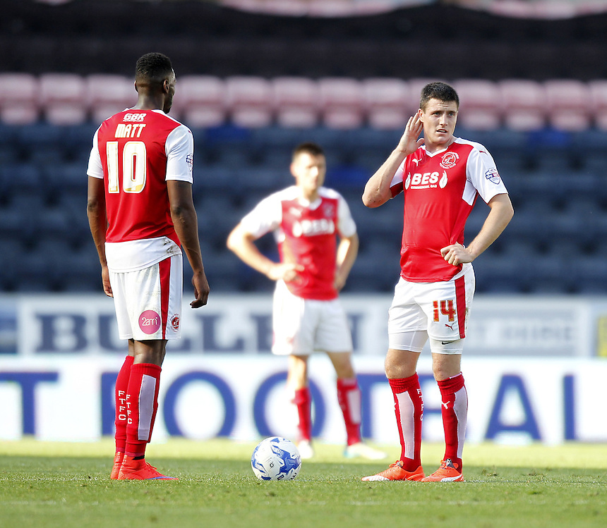 Fleetwood Town's players look dejected<br />