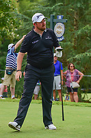 Shane Lowry (IRL) watches his tee shot on 11 during Sunday's final round of the PGA Championship at the Quail Hollow Club in Charlotte, North Carolina. 8/13/2017.<br /> Picture: Golffile | Ken Murray<br /> <br /> <br /> All photo usage must carry mandatory copyright credit (&copy; Golffile | Ken Murray)