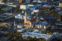 aerial photograph catholic church Los Angeles, California