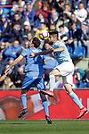 Getafe CF's Jaime Mata  and Celta de Vigo's Nestor Araujo  during La Liga match. February 09,2019. (ALTERPHOTOS/Alconada)