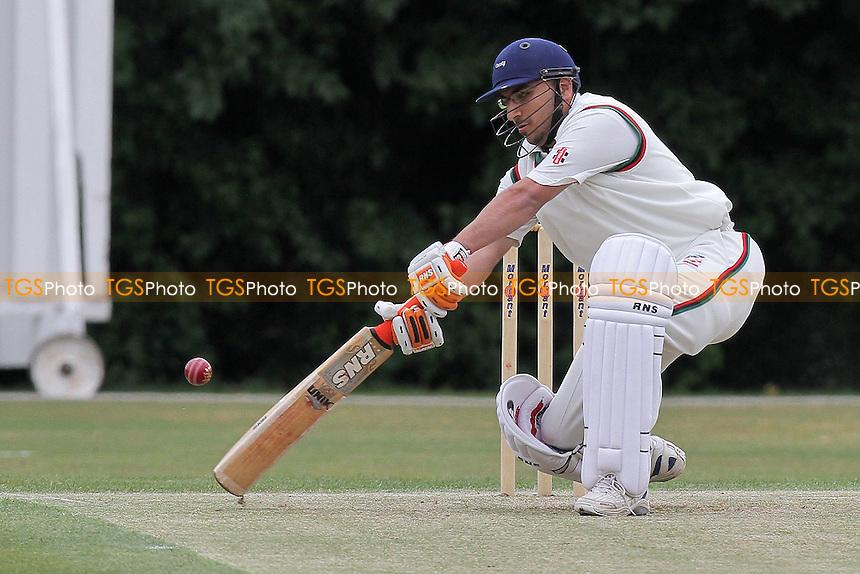 Gagan Bhogal in batting action for Ilford - Woodford Wells CC (fielding) vs Ilford CC - Essex Cricket League - 28/05/11 - MANDATORY CREDIT: Gavin Ellis/TGSPHOTO - Self billing applies where appropriate - Tel: 0845 094 6026