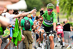 Green Jersey Peter Sagan (SVK) Bora-Hansgrohe arrives at sign on before the start of Stage 15 of the 2019 Tour de France running 185km from Limoux to Foix Prat d'Albis, France. 20th July 2019.<br /> Picture: ASO/Alex Broadway | Cyclefile<br /> All photos usage must carry mandatory copyright credit (© Cyclefile | ASO/Alex Broadway)