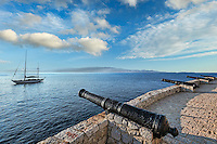 Hydra cannons remind the glorious history of this Greek island