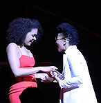 Barrett Doss and Crystal A. Dickinson on stage at the 73rd Annual Theatre World Awards at The Imperial Theatre on June 5, 2017 in New York City.